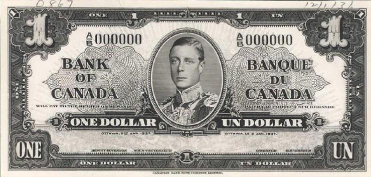 $1 bill with Edward VIII