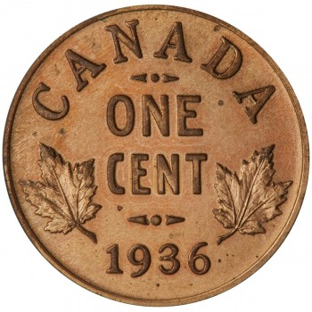 Canadian 1936 dot penny