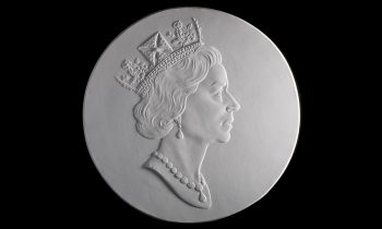 plaster cast of the Queen's head