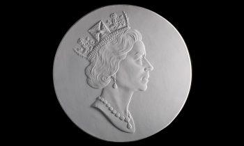 plaster cast of the Queen's head