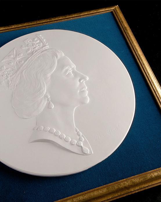plaster coin model