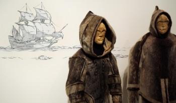 mannequin, Inuit, sealskin suit