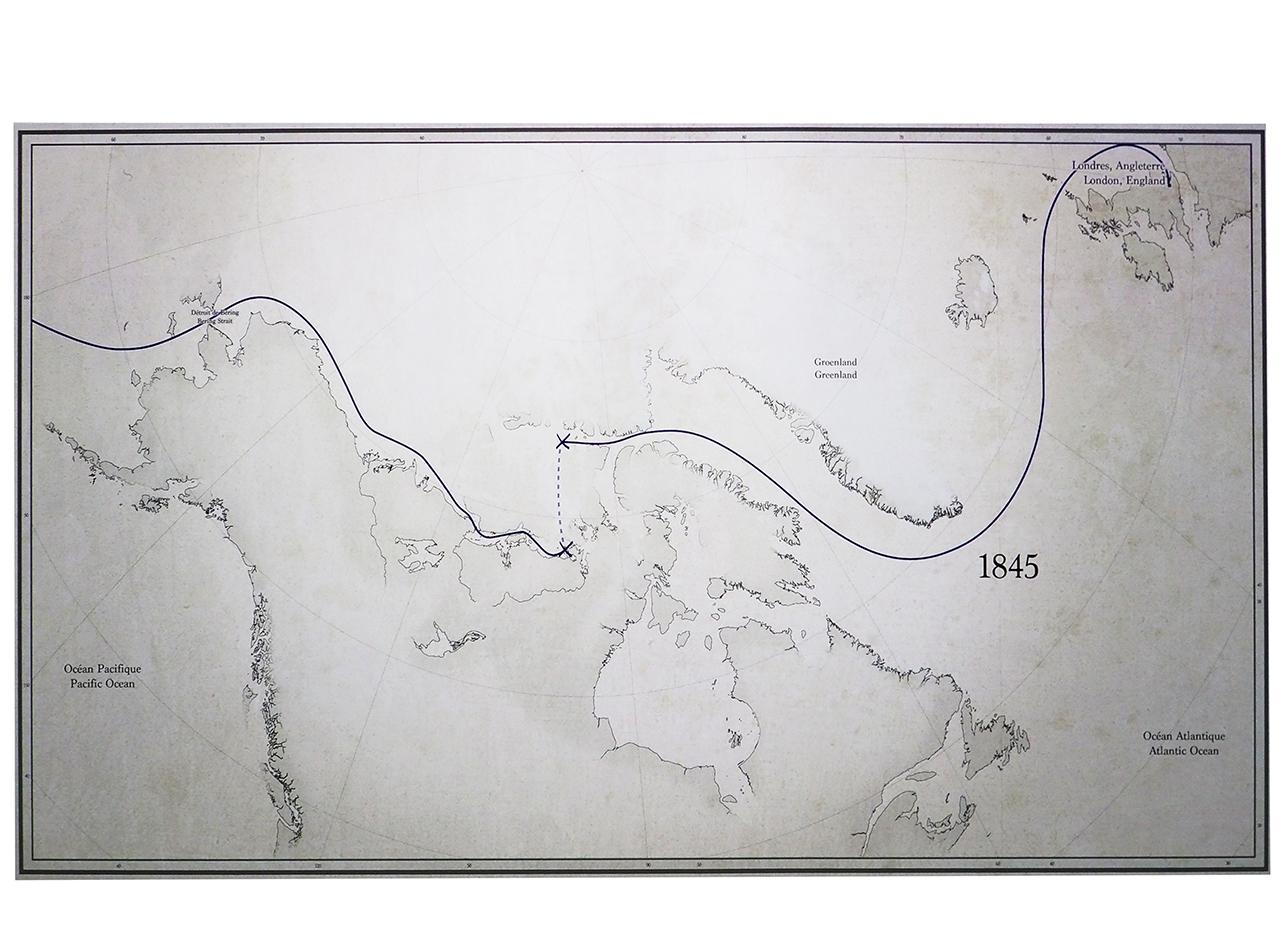 map, Canadian Arctic exploration, routes