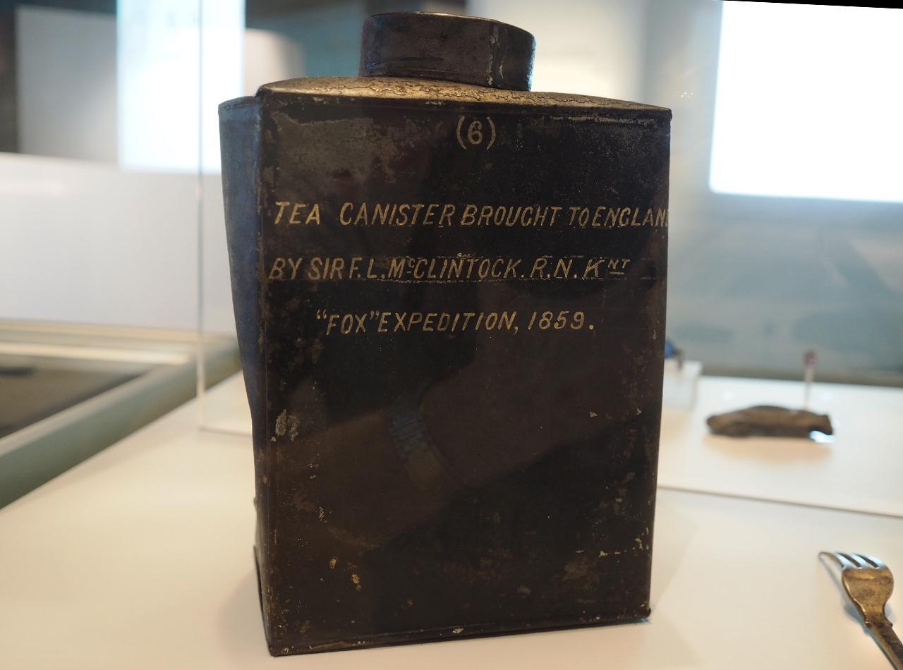artifact, tea tin