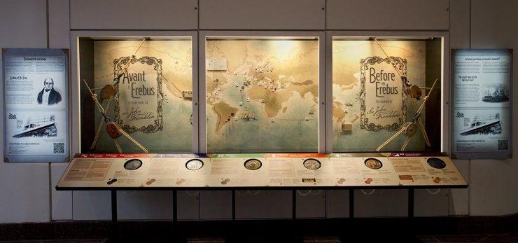 museum, exhibition window