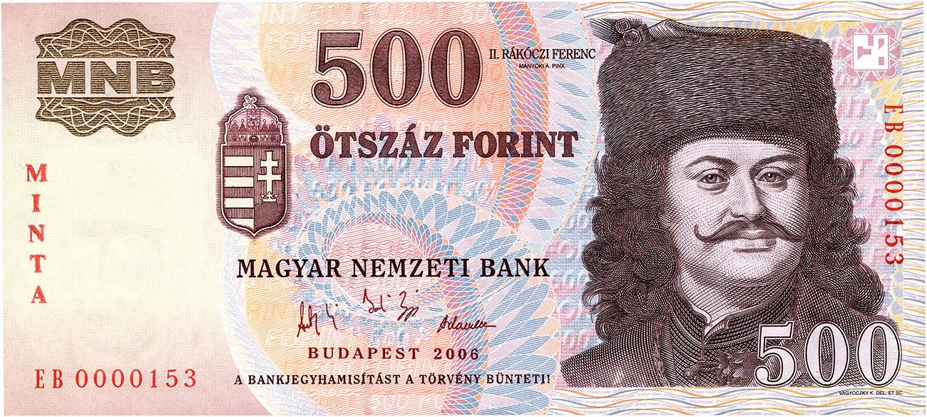 Hungarian bank note with Francis II Rákóczi, Transylvanian prince