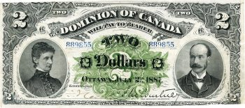 Dominion of Canada $2 bank note