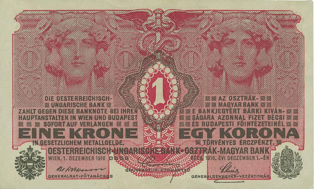 a red note from a European country that no longer exists