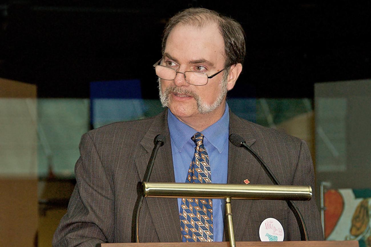 Paul Berry speaking at an event