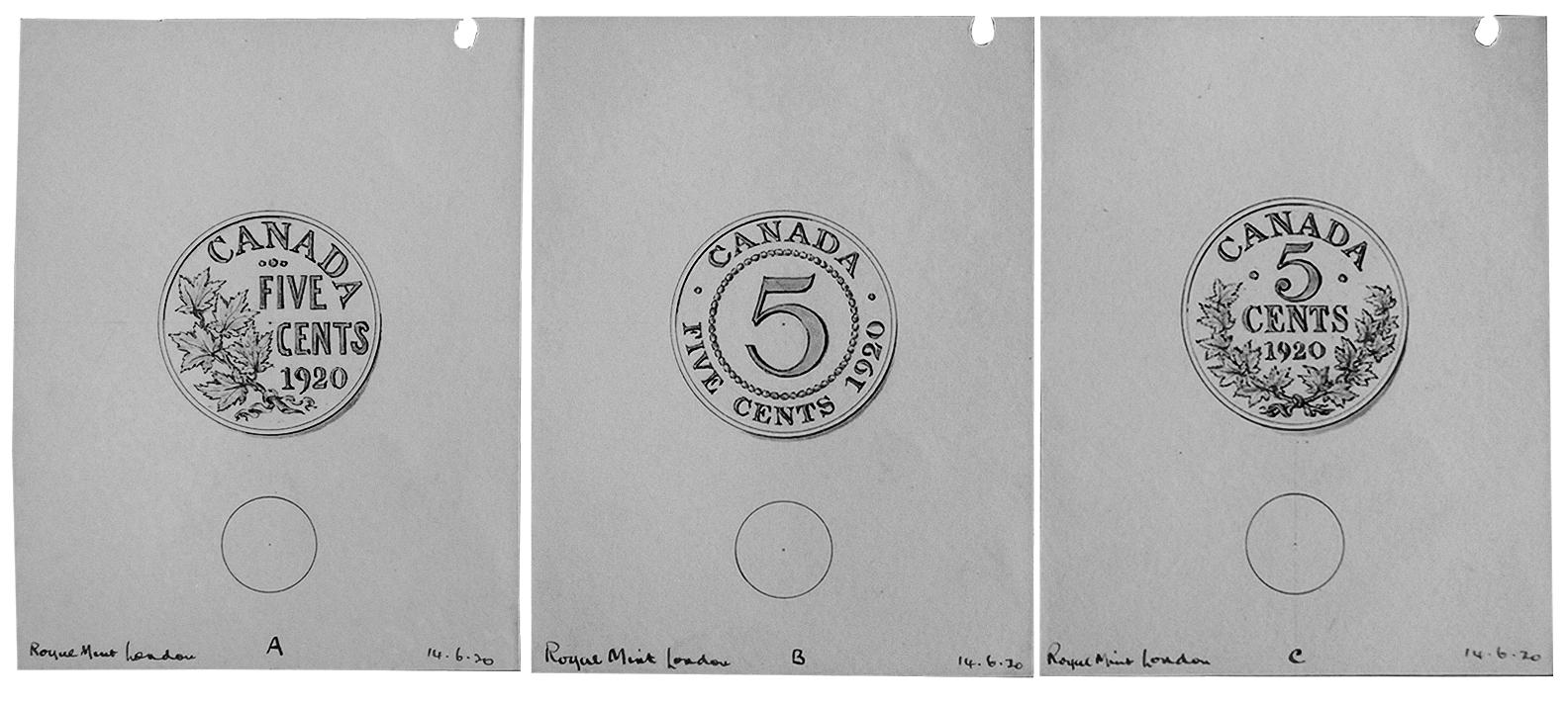 hand-drawn illustrations of old coin designs