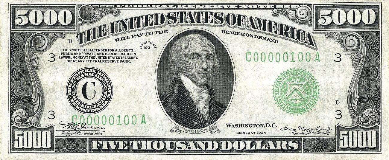 American $5,000 bill