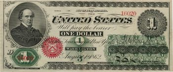US $1 bill front side