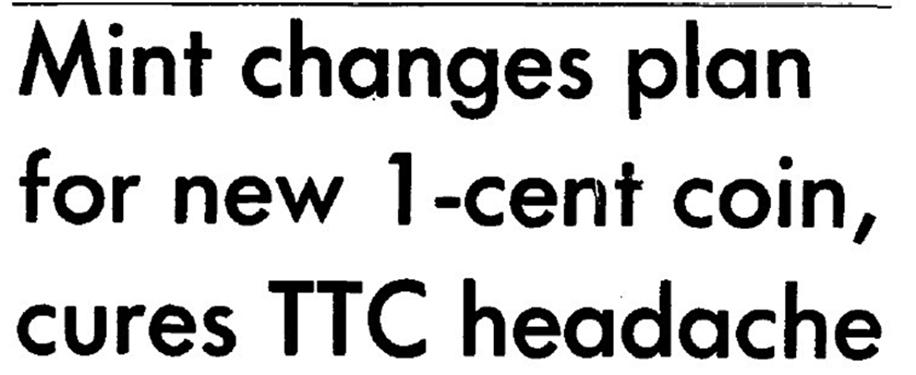 headline about the Mint changing its mind