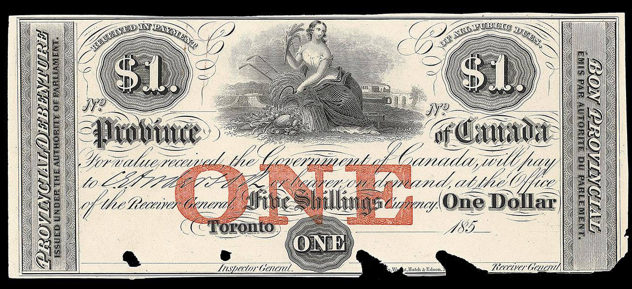 Canadian bank note, allegory of harvest