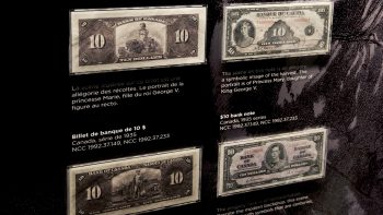 old-fashioned Canadian bank notes