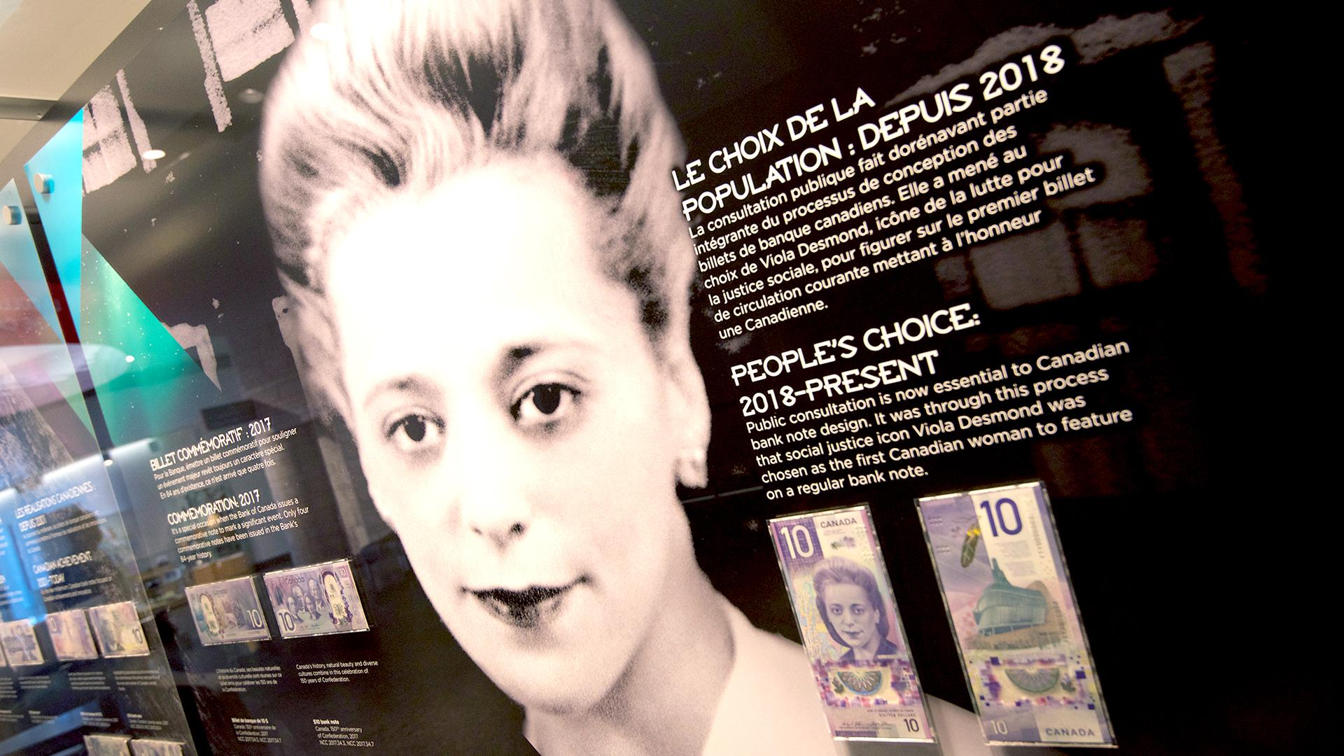the new vertical note featuring Viola Desmond