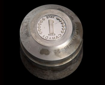 a coin die for striking the penny