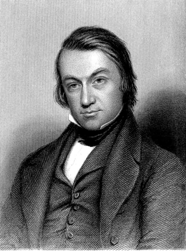 engraving of a 19th century man, Charles Mackay