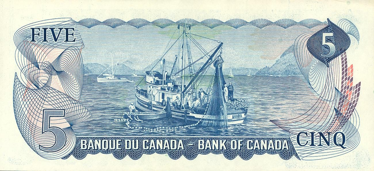 old Canadian 5-dollar bank note