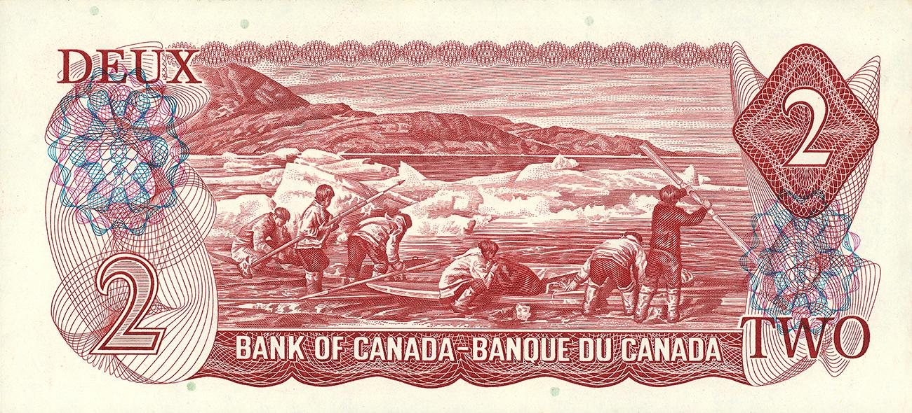 old Canadian 2-dollar bank note