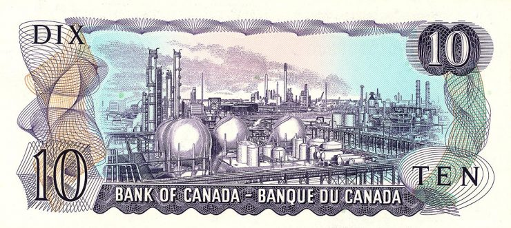 old Canadian 10-dollar bank note