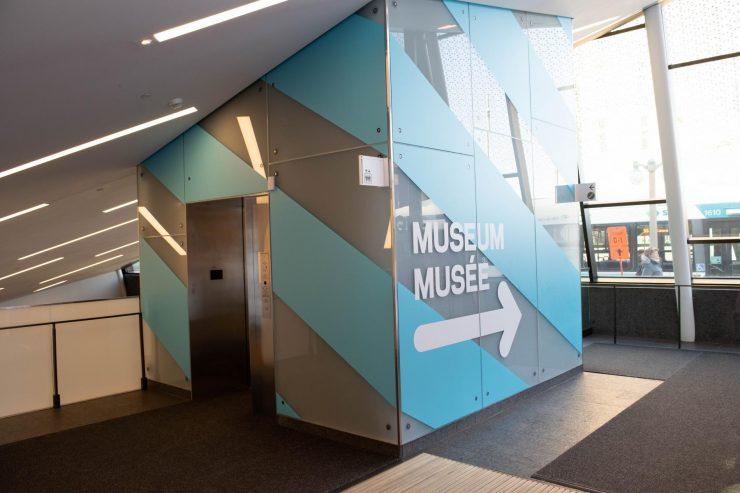 view of top-floor Museum entrance