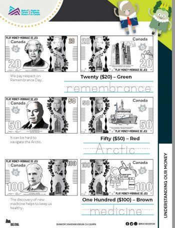 Exploring coins and bank notes activity worksheet.